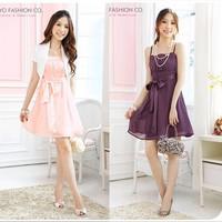 Free Shipping  Korean Women Summer 2014 foreign trade dress waist harness dress chiffon ribbon princess student son