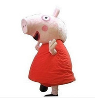 Promotion Peppa pig Mascot Costume Fancy Adult Dress Cartoon suit + Free shipping