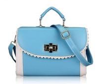 The new 2014 fashionable female bag Ms colours one shoulder inclined across joker recreation bag handbag
