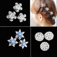 Frozen Snow Cosplay Clips Snow Romance Headdress Hair Spiral Folder Super Flash Diamond Tiara Hair Accessories Children Tiara