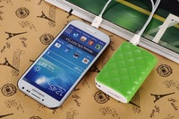 2014 New mini portable wallet power bank 5600mah battery charger with led light 6 color wallet powerbank in stock
