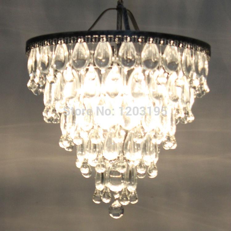 Rustic Rural Style Crystal Chandelier Metal Lighting For Dining Room