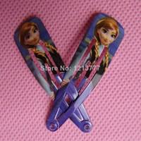 Free shipping 15 Pairs 30 Pcs Children hair accessories Fashion Cartoon Frozen ANNA Hair Clip baby girl hairpins