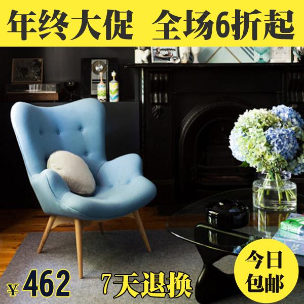 transporte especial lounge cadeira cadeira moda tecido preguiçoso domésticos poltrona com pufe minimalista e moderno(China (Mainland))