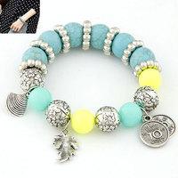 2014 New Metallic Blue Turquoise Concise Fashion Bracelet