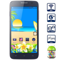 Free shipping Mpie mp118+ Android 4.2 3G Smartphone 1.3GHZ MTK6582 Quad Core 512MB RAM 4GB ROM 5.0 inch cell phones GPS