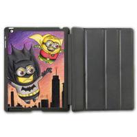 For iPad 2 3 4/iPad 5 Air/iPad Mini Minion Batman & Robin Protective Smart Cover Leather Case
