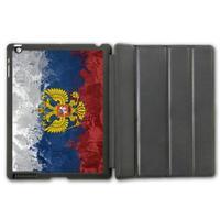 For iPad 2 3 4/iPad 5 Air/iPad Mini Retro Russia Flag Protective Smart Cover Leather Case  (Free Shipping) v1