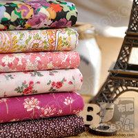 1PCS width 105cm*50cm flower design cotton fabric poplin diy patchwork fabric sewing tecido for pillow bedding set