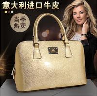 Hot sale 2014 Spring genuine paint leather calfskin fashion totes handbags women messenger bags