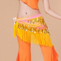 Sexy Tassel Scarf Bellydance Hip Scarf Belly Dance Belt Belly Dancing Coin Belt Accessories Costume Waist Chain For Women 2015