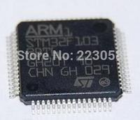 Free shipping 10pcs/lot STM32F103RBT6 ST MCU ARM 128KB FLASH MEM 64-LQFP