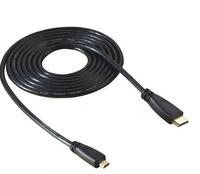 New Arrive Black 6FT 1.8M Micro HDMI Male to Mini HDMI Male Connector Adapter Cable Cord