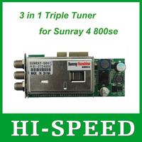 1pc sunray sr4 Triple Tuner -T -C -S(2S) 3 in 1 tuner for Sunray 4 T2 HD se SR4 800HD se satellite receiver free shipping post