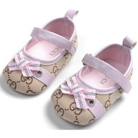 Famous brand pattern soft material kids shoes cotton fabric baby girl shoes free shipping