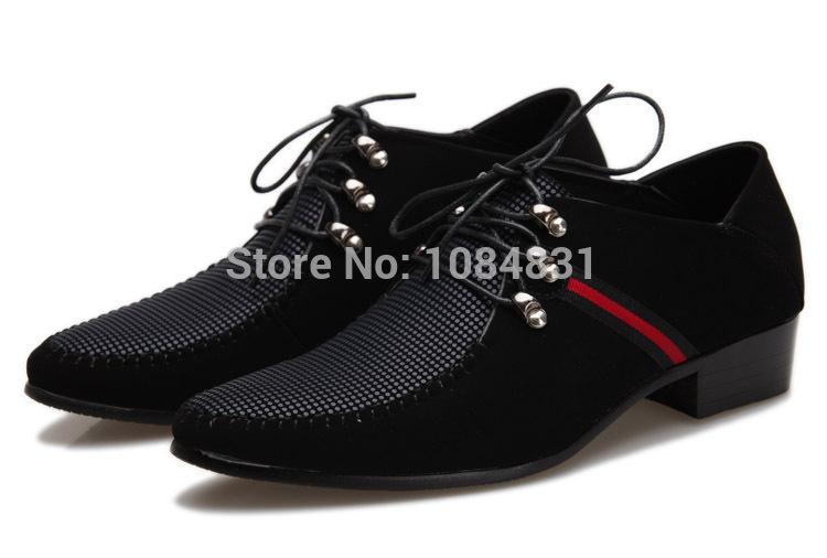 2014 stile vintage punta ha degli uomini scarpe business casual pizzo- up nero in pelle di alta qualità marchio di moda scarpe formale sociale