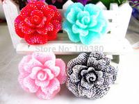 20pcs new arrival shining bling bling resin flower for home kids phone hair decoration flat back resin mini bow