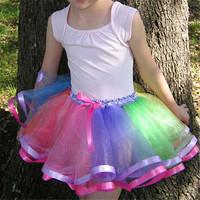 Fashion Girl Skirt Tulle Fluffy Tutu Skirt With Satin Trim In Gray Ribbon Sewn Puffy Tutu Princess Skirt