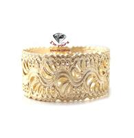 JZ44 Jewelry wholesale brand texture golden hollow out Wide bracelet 2pcs/lot