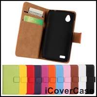 Stand Wallet Genuine Leather Case Cover for HTC Desire V T328W for htc Desire X T328e with Card Holder