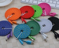 3m Nylon Cable V8 Charge Cord for iphone 5 wholesale