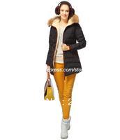 2014 Women Outdoor Jackets Slim White Duck Winter Outwear Warm Hood Parka Big Size Black Retail  Down Outerwear