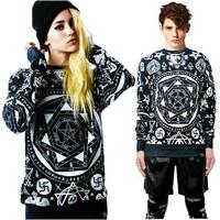 2014 New fashion men/women's casual sweater kill star skull bandana geometry print pullover 3d sweatshirt hoodies streetwear
