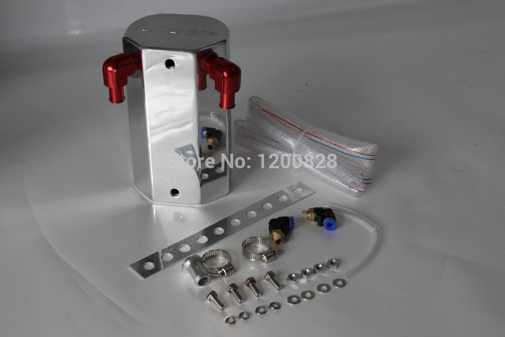 HPPTA32 SILVER Universal Car Accessories Racing Oil Catch Aluminum Tank Can 1L(China (Mainland))