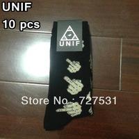 Free shipping UNIF women's the focks socks black men's
