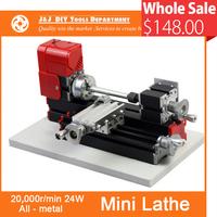 Mini Metal Lathe Machine with 20,000r/min, 24W  Motor ,DIY Tools as Chrildren's Gift.