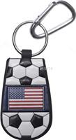 American Flag Classic Soccer Keychain