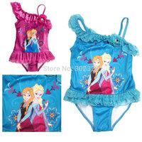 Wholesale Frozen swimwear Baby Girls Swimming Wear Princess One Piece Swimmers Children's Bather Kids Swimsuit Beach wear