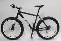 "2014 New Sram Groupset 18-speed Beach Cruiser 19"" Fat Tire Bike Fatboy Bicycle Big Tire Snow Bike White with Orange Rim"