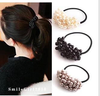 Craft woven beads elastic hair ring Headband Hair rubber for Women hair Accessories Hair Ornaments Free
