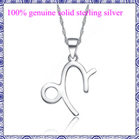 100% 925 sterling silver pendant for chain necklace jewelry for women men horoscope  Capricornus no allergy retail & wholesale