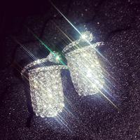 Fashion Micro Pave CZ Ring 4A zircon crystal  ring fingernail Nail   Ring  female snake rings