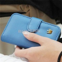 2014 New Candy Color Mobile Phone Accessories/High Quality Phone Case for iPhone 4&4S/Leather Celphone Cases