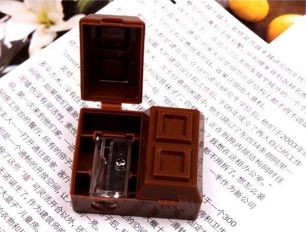 2 In 1 Mini Chocolate Pencil Sharpener Penknife Sharper Rubber Eraser/Mechanical sharpener pencil/apontador(China (Mainland))