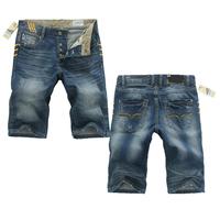 Free Shipping 2014/6/25 New Arrival Fashion Brand Famous Men's Jeans Shorts Denim Straight Jeans Shorts Men Size 28-40#GCA5820