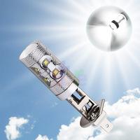 2pcs H1 led car lights Xenon White 60W Cree XBD-R3 Lens Vehicles Signal LED Car Fog Light Daytime Running Bulb parking