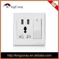 Multifunction USB socket panel 86 five-hole socket 2.1A universal charger wall socket mobile phone charging