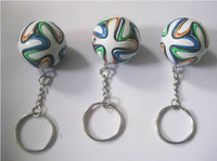 2014 World Cup Brazuca mini soccer Memorial collective football Keychain 3pcs