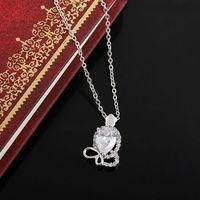 Women Gold White Plated Octopus Shape Zircon Crystal Pendant Jewelery    63238-63239