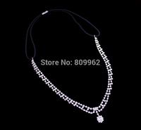 Wholesale  Crystal Fashion,New Silver Chain Hairpin,Design Headband Elastic,Rhinestone Hair Band,Fashion Accessories,HD-35