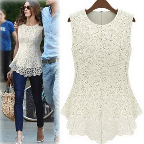 Spring & Summer Clearance Women Casual Sleeveless dress shirt Blusas