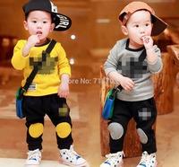 NEW Spring Autumn Leisure KIDS 2y-6y Sport suit set long sleeve children T shirt+kids pants clothing set,2pcs sets free shipping