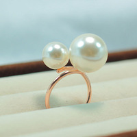 Retail and Wholesale Fashion Gold / White Plated Golden Pearl South Shell Sea Pearl R872 Free Shipping Worldwide