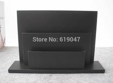 Kingfom Leather+Wood Magazine Rack Newspaper Stand Magazine Holder for Home Car Accessory Black 1279(China (Mainland))