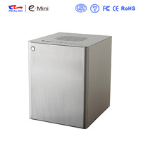 Realan Vertical Desktop Computer  Aluminum  Mini ITX Case Micro ATX Case D5S For Standard ATX Power Supply