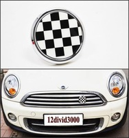 Checker  Metal Grille Emblem Badge FIT MINI cooper R55 R56 R57 R58 R59